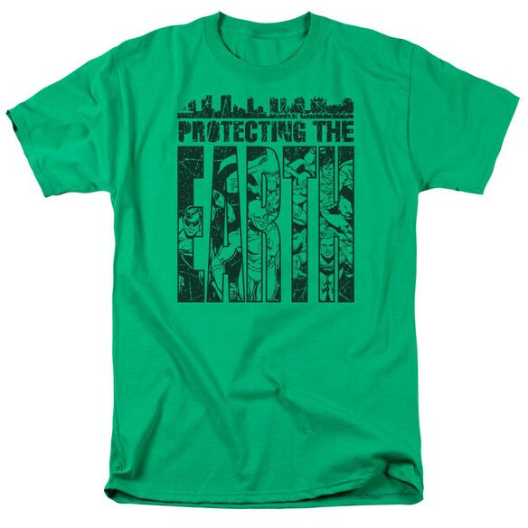 Dc Protecting The Earth Short Sleeve Adult Kelly T-Shirt