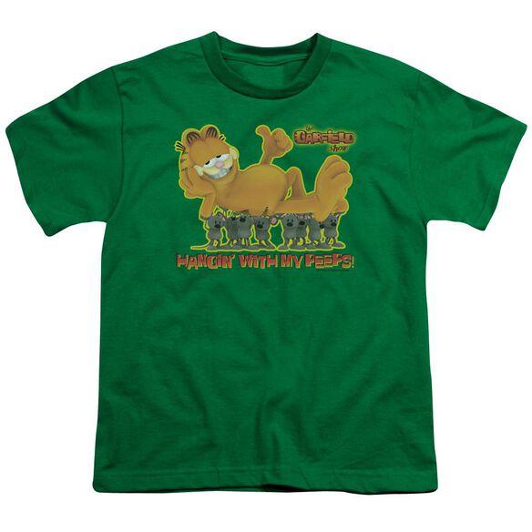 GARFIELD MY PEEPS - S/S YOUTH 18/1 - KELLY GREEN T-Shirt