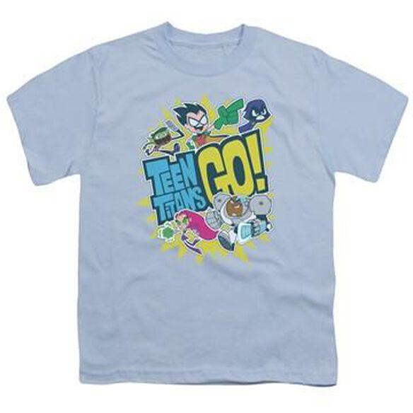 Teen Titans Go Group Logo Youth T-Shirt