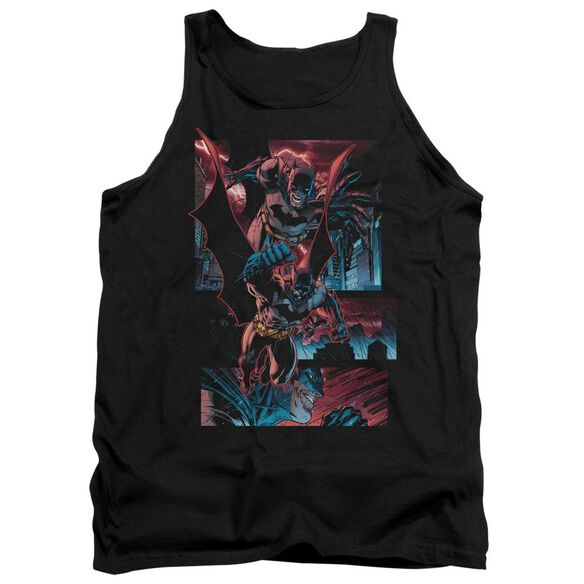 Batman Dark Knight Panels - Adult Tank - Black