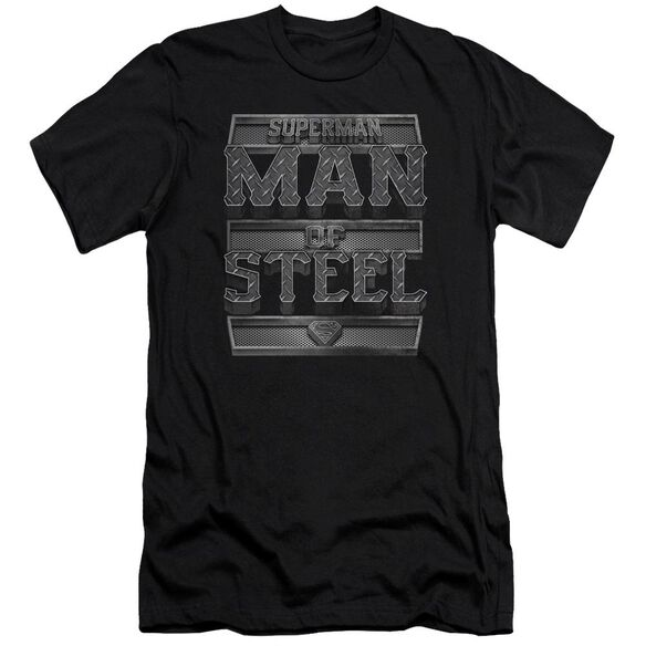 Superman Steel Text Premuim Canvas Adult Slim Fit