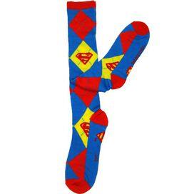 Supergirl Argyle Knee High Socks