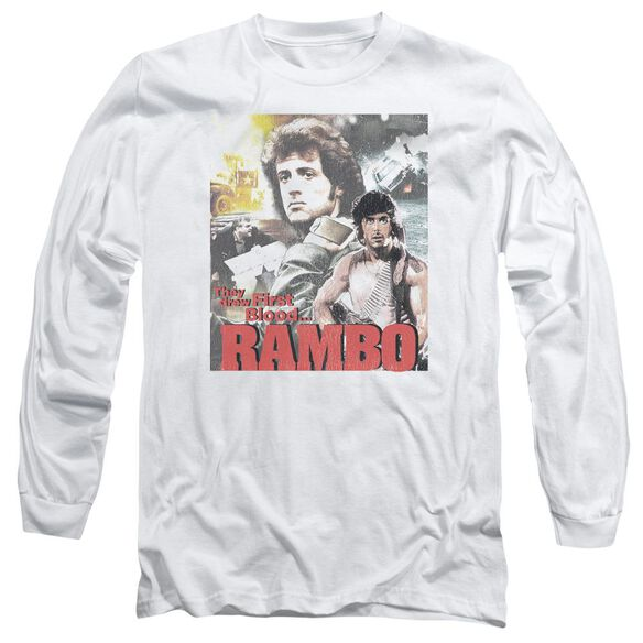 Rambo:First Blood They Drew Collage Long Sleeve Adult T-Shirt