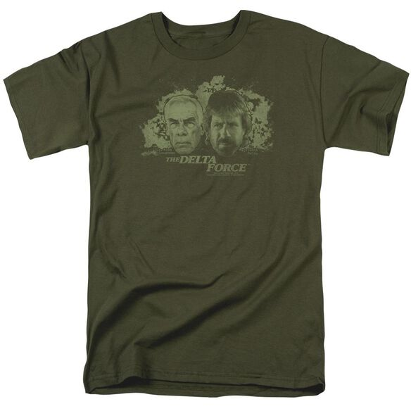 Delta Force Explosion Short Sleeve Adult Military Green T-Shirt