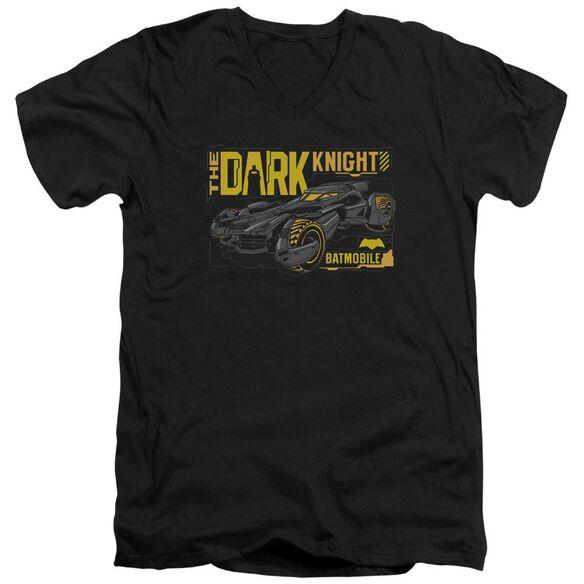 Batman V Superman Mobile Dark Knight Short Sleeve Adult V Neck T-Shirt