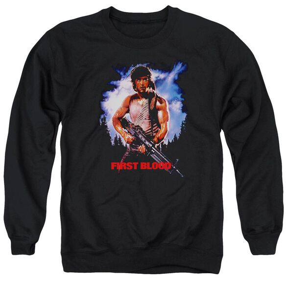 Rambo:First Blood Poster Adult Crewneck Sweatshirt
