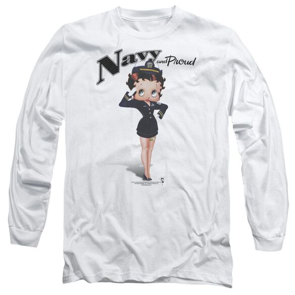 Betty Boop Navy Boop Long Sleeve Adult T-Shirt
