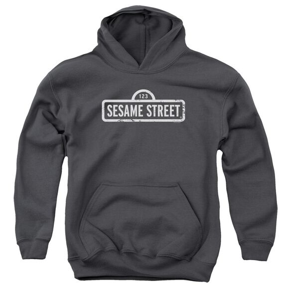 Sesame Street One Color Logo Youth Pull Over Hoodie