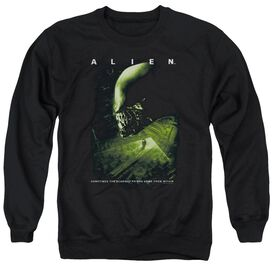Alien Lurk - Adult Crewneck Sweatshirt - Black