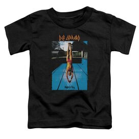 Def Leppard High N Dry Short Sleeve Toddler Tee Black T-Shirt