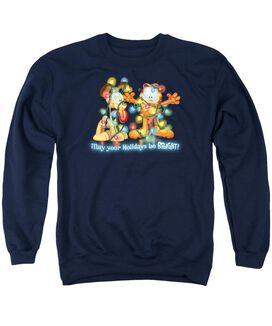 Garfield Bright Holidays Adult Crewneck Sweatshirt