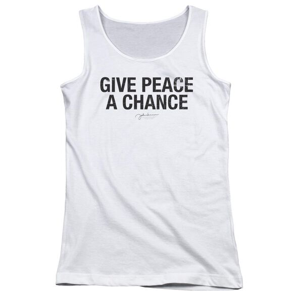 John Lennon Give Peace A Chance Juniors Tank Top