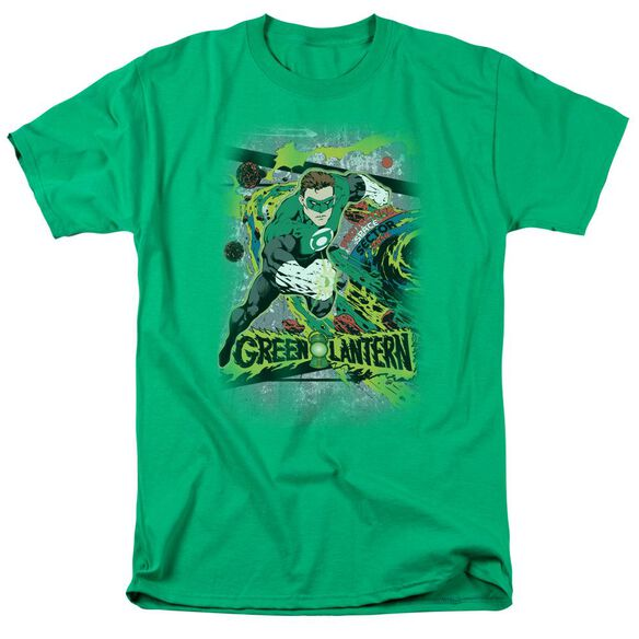 Dc Space Sector 2814 Short Sleeve Adult Kelly Green T-Shirt