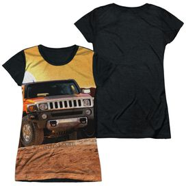 Hummer Sunset Ride Short Sleeve Junior Poly Black Back T-Shirt