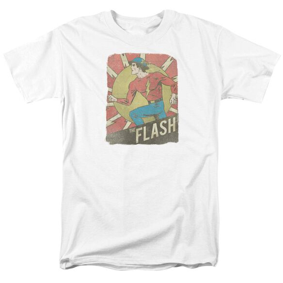 Dc Flash Tattered Poster Short Sleeve Adult T-Shirt