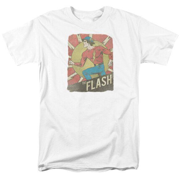 Dc Flash Tattered Poster Short Sleeve Adult T-Shirt