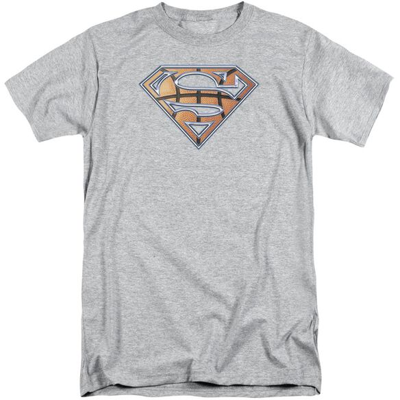 Superman Basketball Shield Short Sleeve Adult Tall Athletic T-Shirt