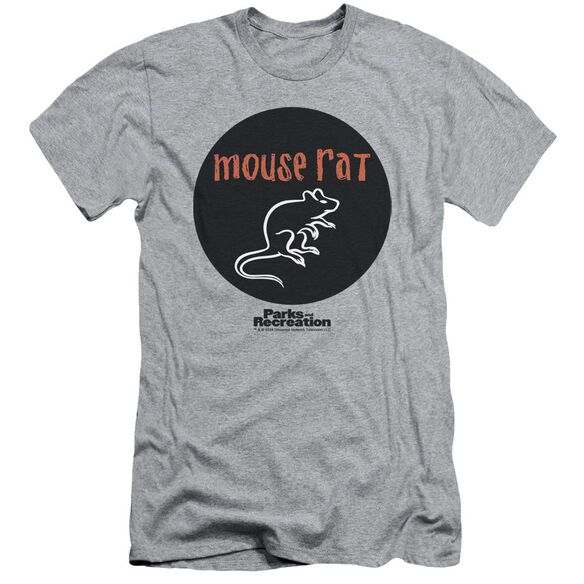 Parks & Rec Mouse Rat Circle Short Sleeve Adult Athletic T-Shirt