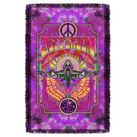 Jefferson Airplane Take Off Woven Throw