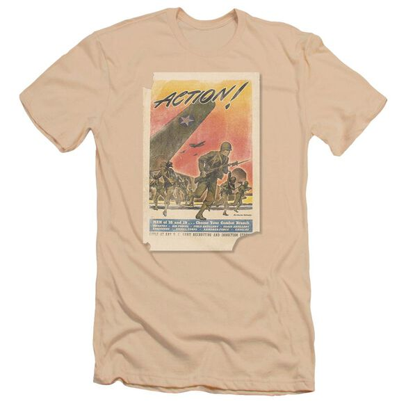 Army Action Poster Premuim Canvas Adult Slim Fit