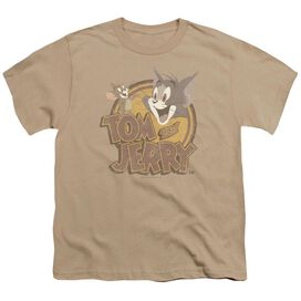 Tom And Jerry Water Damaged Short Sleeve Youth T-Shirt