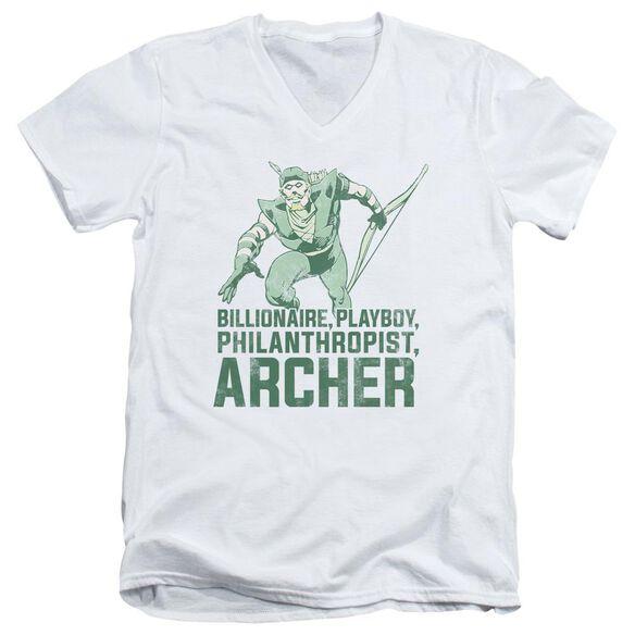 Dc Archer Short Sleeve Adult V Neck T-Shirt