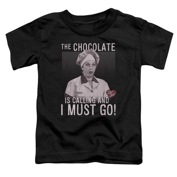 I Love Lucy Chocolate Calling Short Sleeve Toddler Tee Black T-Shirt