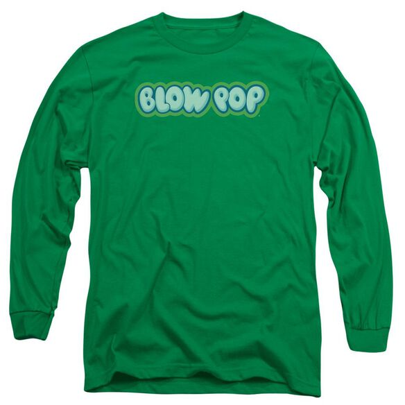 Tootsie Roll Blow Pop Logo Long Sleeve Adult Kelly T-Shirt