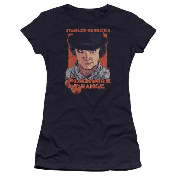 A Clockwork Orange Sinister Stare Hbo Short Sleeve Junior Sheer T-Shirt
