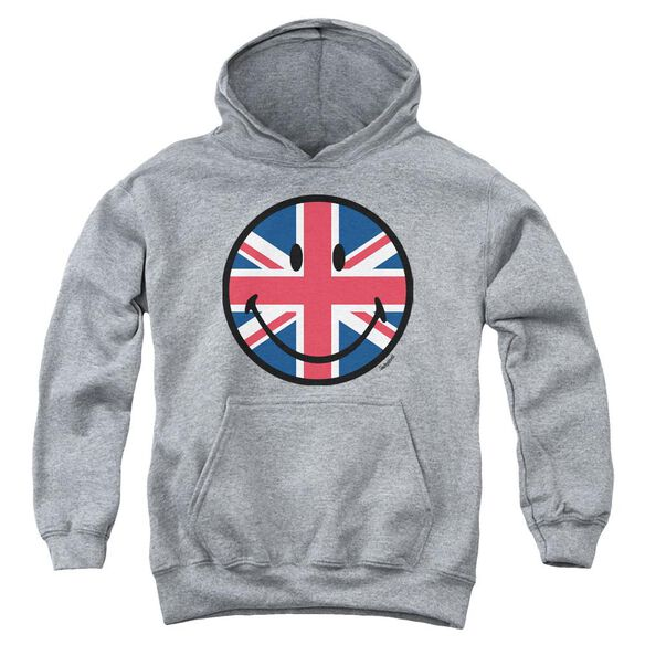 Smiley World Union Jack Face Youth Pull Over Hoodie Athletic