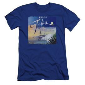 Zz Top Tejas Hbo Short Sleeve Adult Royal T-Shirt