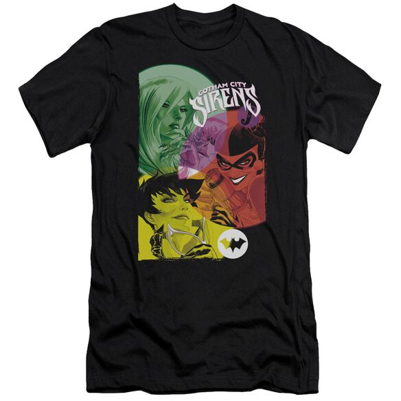 BATMAN GOTHAM SIRENS - S/S ADULT 30/1 - BLACK T-Shirt