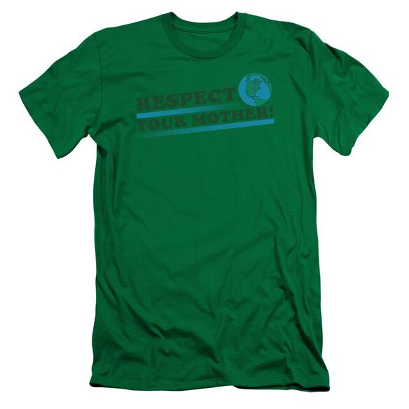 RESPECT YOUR MOTHER 2 - ADULT 30/1 - KELLY GREEN T-Shirt