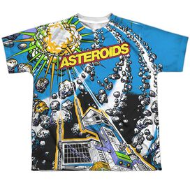 Atari Asteroids All Over Short Sleeve Youth Poly Crew T-Shirt