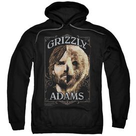 Grizzly Adams Half Bear Adult Pull Over Hoodie
