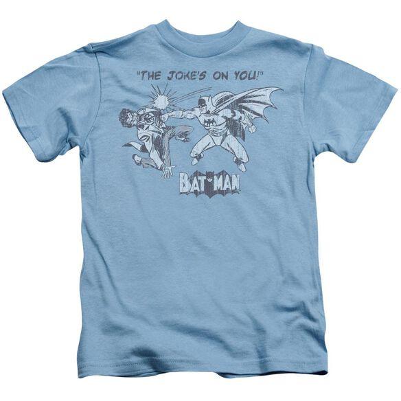 Batman The Joke's On You Short Sleeve Juvenile Carolina Blue T-Shirt