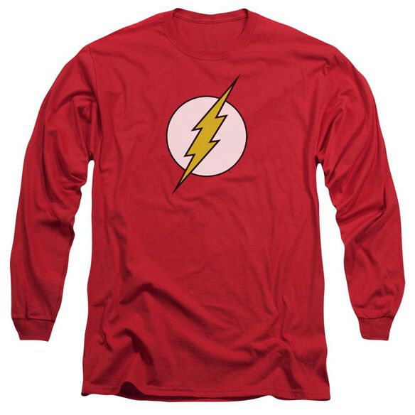 Dc Flash Logo Long Sleeve Adult T-Shirt