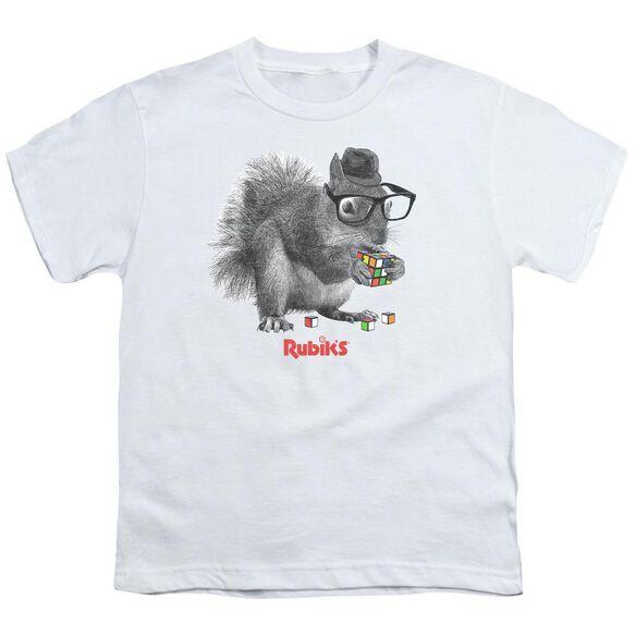 Rubik's Cube Nerd Squirrel Short Sleeve Youth T-Shirt