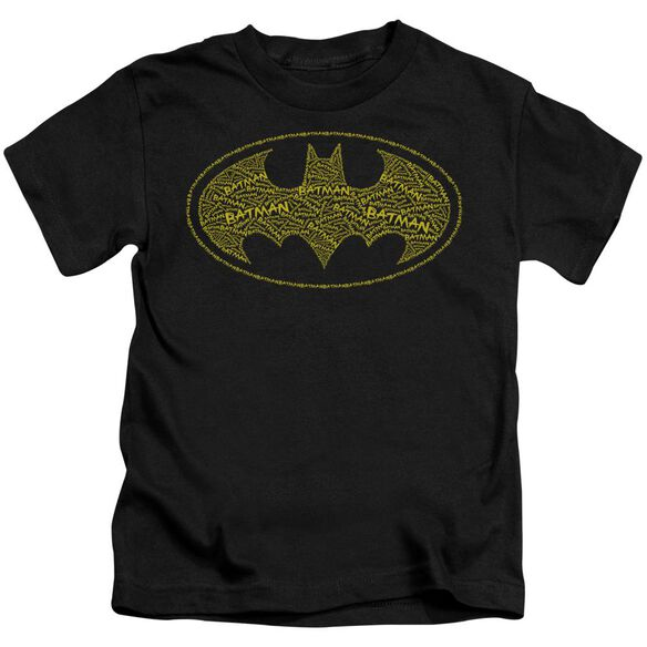 Batman Type Logo Short Sleeve Juvenile Black T-Shirt