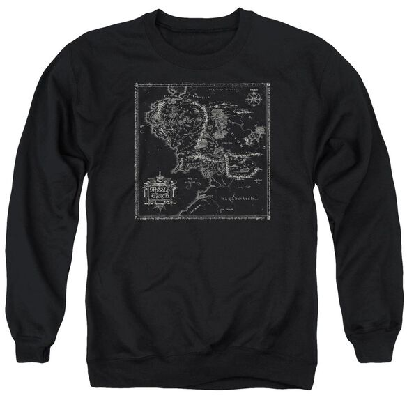 Lord Of The Rings Map Of Me Adult Crewneck Sweatshirt