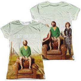 Last Man On Earth Last Man (Front Back Print) Short Sleeve Junior Poly Crew T-Shirt