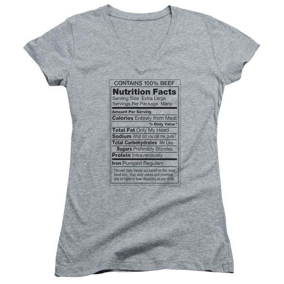 100% Beef Junior V Neck Athletic T-Shirt