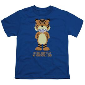My Homework Short Sleeve Youth Royal T-Shirt