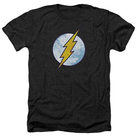 Dc Flash Flash Neon Distress Logo Adult Heather