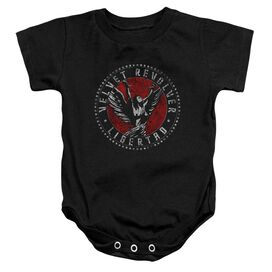 Velvet Revolver Circle Logo Infant Snapsuit Black