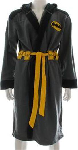 Batman Gray Costume Hooded Fleece Robe