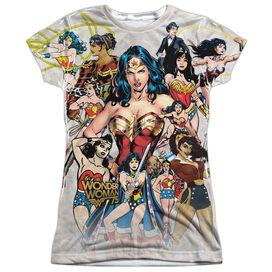 Wonder Woman 75 Th Collage Short Sleeve Junior Poly Crew T-Shirt