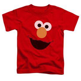 Sesame Street Elmo Face Short Sleeve Toddler Tee Red T-Shirt