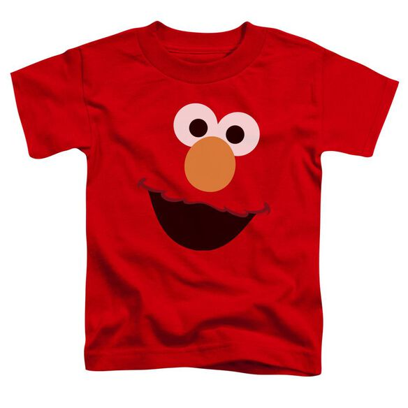 Sesame Street Elmo Face Short Sleeve Toddler Tee Red T-Shirt