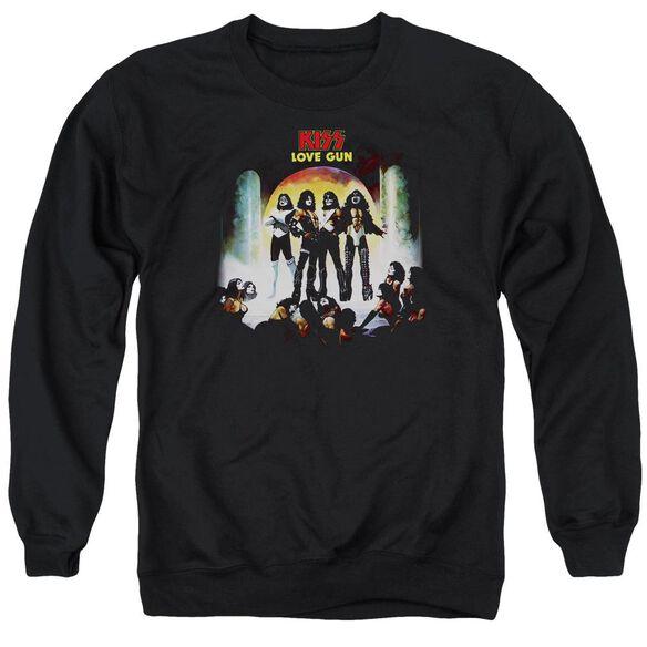 Kiss Lover Gun Cover Adult Crewneck Sweatshirt